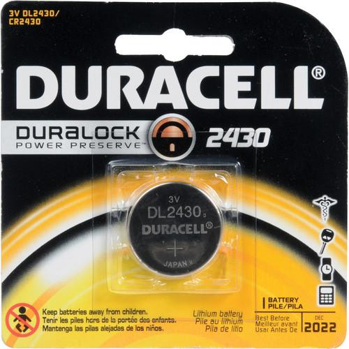 Duracell CR2430 Lithium Battery (3 V, 285 mAh) 2430BP