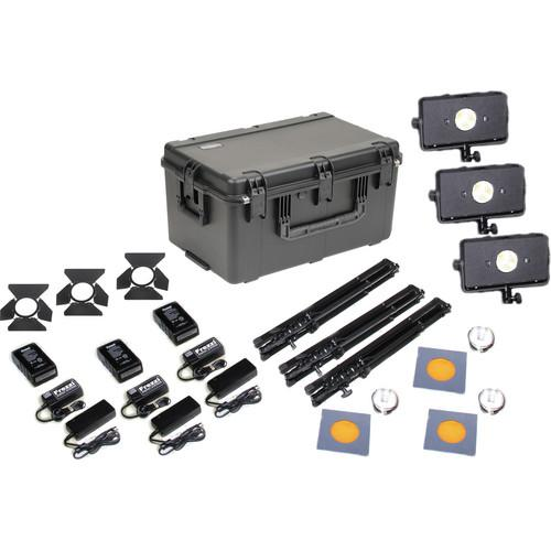 Frezzi Skylight Triple AC/DC V-Mount Light Kit with Charger