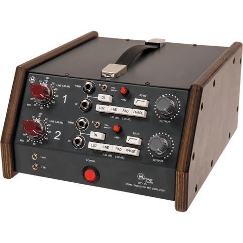 Heritage Audio DTT-73 Dual Tabletop Microphone Preamplifier
