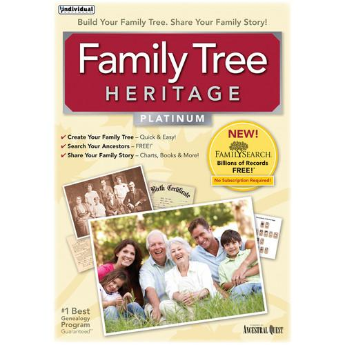 Individual Software Family Tree Heritage Platinum 8 FAMTRHER8