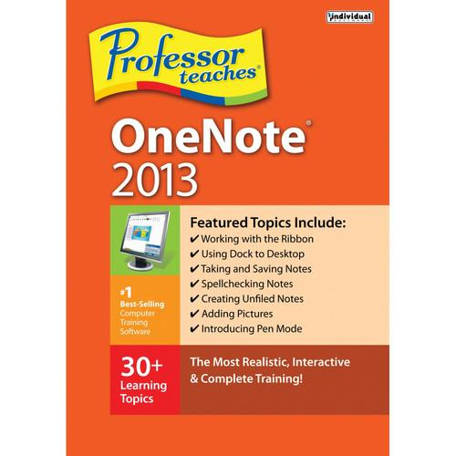 Individual Software Professor Teaches OneNote 2013 PRF-ON13