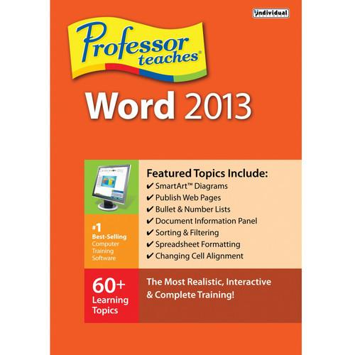 Individual Software Professor Teaches Word 2013 PRF-WC13