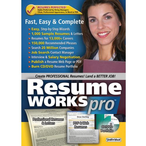 Individual Software Resume Works Pro (Download) RESWORKSPRON