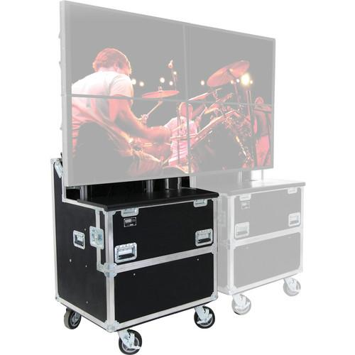 JELCO RotoLift Dual Flat Screen Mobile Lift Case ELU-60RX2
