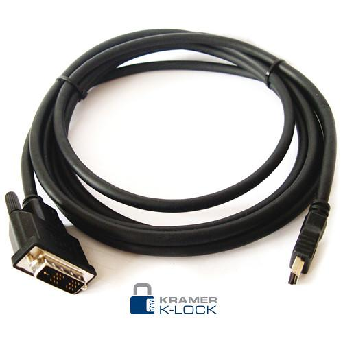 Kramer HDMI Male to DVI Male Video Cable (0.5') C-HM/DM-0.5