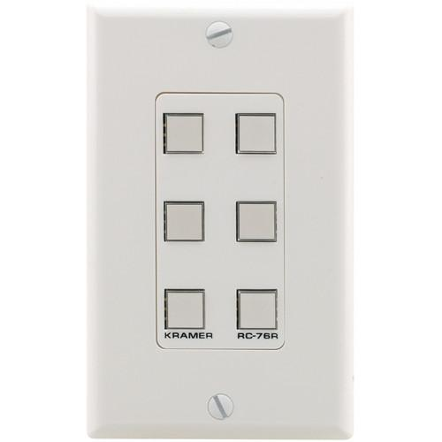 Kramer RC-76R Configurable 6-Button Wall Plate RC-76R