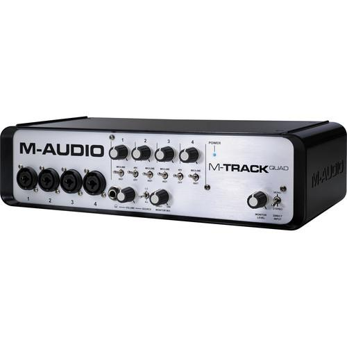 M-Audio M-Track Quad - USB Audio/MIDI Interface MTRACKQUADX110