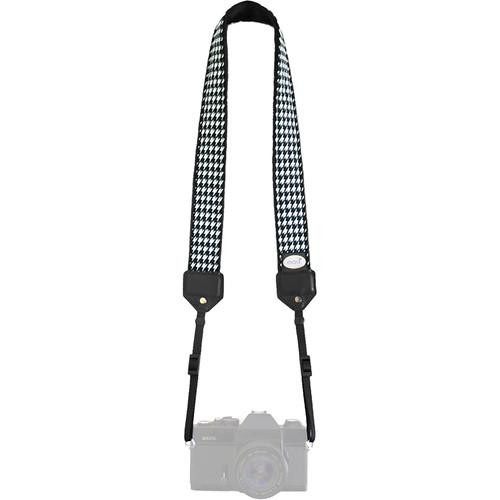 Mod Classic Camera Strap (Houndstooth with Black Minky) MOD5266
