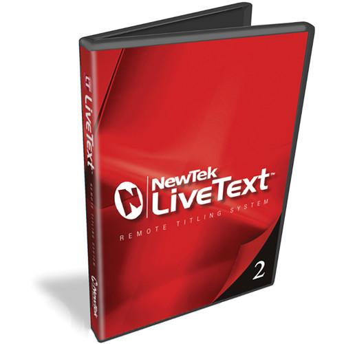 NewTek LiveText 2.5 with DataLink 3 Upgrade from FG-000737-R001