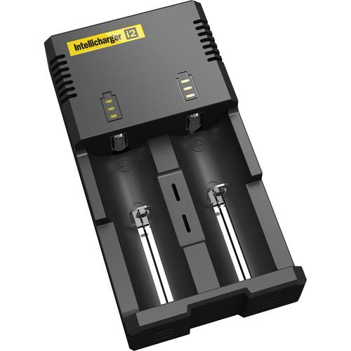 NITECORE i2 Intellicharger Battery Charger Base (2-Bay) I2