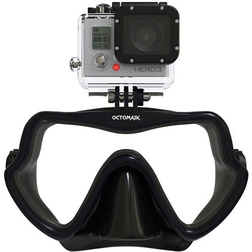 OCTOMASK Frameless Scuba Mask for GoPro Camera (Black) 201