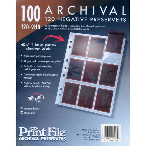 Print File 120-9HB Archival Storage Page for 9 020-0208