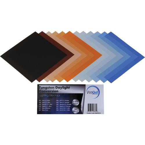 Pro Gel Tungsten/Daylight Conversion Filter Pack 12 x PG12-214