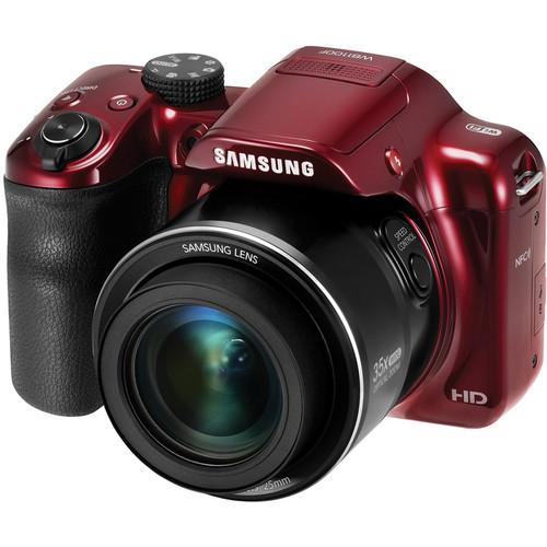Samsung WB1100F Smart Digital Camera Deluxe Kit (Red)