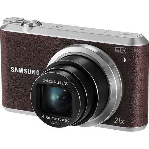 Samsung WB350F Smart Digital Camera Deluxe Kit (Brown)