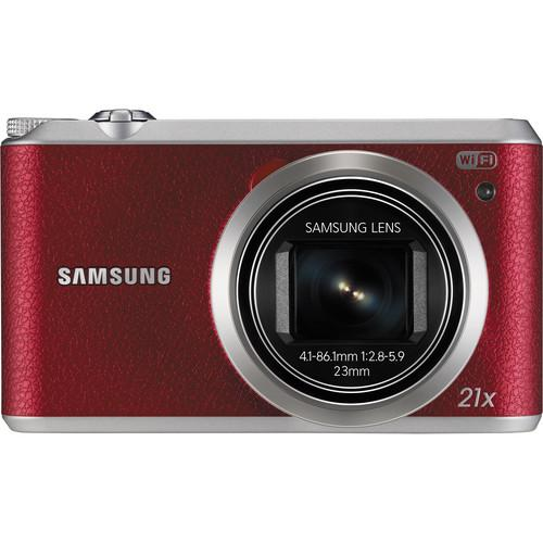 Samsung WB350F Smart Digital Camera Deluxe Kit (Red)