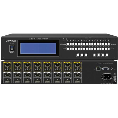 Shinybow 16 x 16 HDMI Matrix Routing Switcher with Full SB-5669K