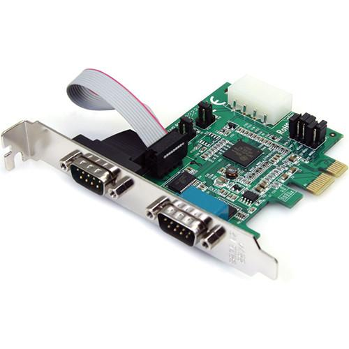 StarTech 2-Port RS-232 Serial PCIe Adapter Card PEX2S952