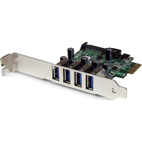 StarTech 4-Port SuperSpeed USB 3.0 PCIe Card PEXUSB3S4V