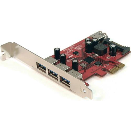 StarTech 4-Port SuperSpeed USB 3.0 PCIe Card with UASP PEXUSB3S4
