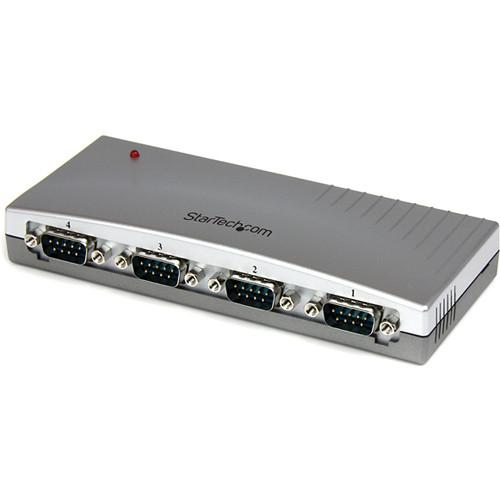 StarTech 4-Port USB to RS-232 Serial DB-9 Adapter Hub ICUSB2324