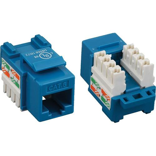 Tera Grand CAT6 Punch-Down Keystone Jack (Blue) KEYJ-CAT6PD-BL