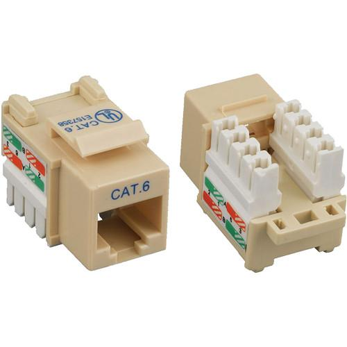 Tera Grand CAT6 Punch-Down Keystone Jack (Ivory) KEYJ-CAT6PD-IV