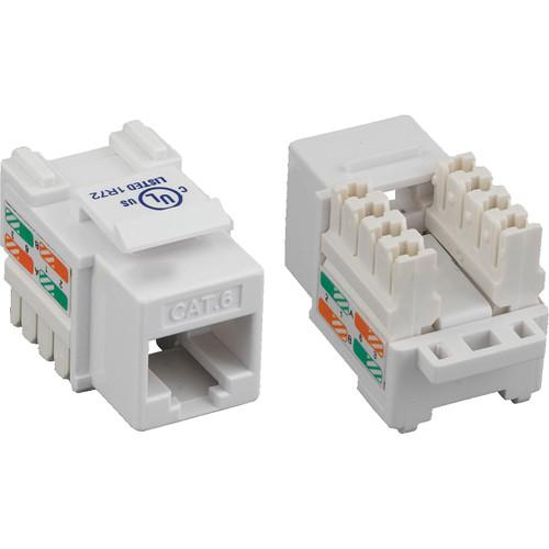 Tera Grand CAT6 Punch-Down Keystone Jack (White) KEYJ-CAT6PD-WH