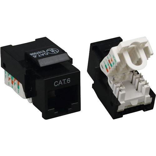 Tera Grand CAT6 Tool-Less Keystone Jack (Black) KEYJ-CAT6TL-BK