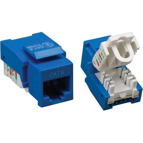 Tera Grand CAT6 Tool-Less Keystone Jack (Blue) KEYJ-CAT6TL-BL