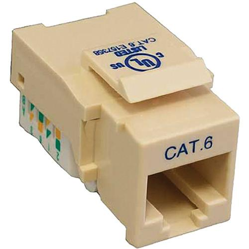 Tera Grand CAT6 Tool-Less Keystone Jack (Ivory) KEYJ-CAT6TL-IV