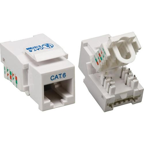 Tera Grand CAT6 Tool-Less Keystone Jack (White) KEYJ-CAT6TL-WH