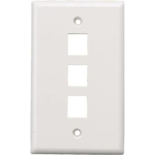 Tera Grand Wall Plate for Keystone Insert WAPL-PORT-3WH