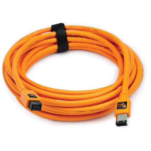 Tether Tools 15' TetherPro FireWire 800 9-Pin to FireWire 400