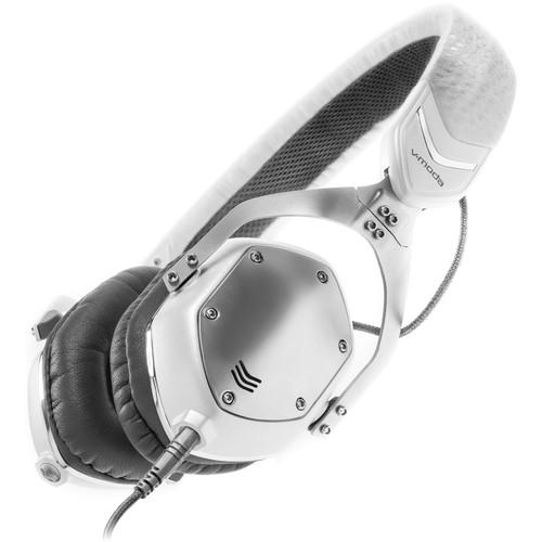 V-MODA XS On-Ear Headphones (White Silver) XS-U-W SILVER