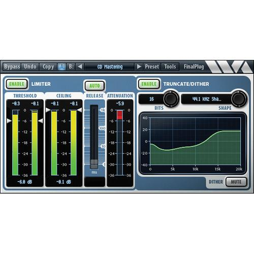 Wave Arts FinalPlug Mastering Peak Limiter and Volume 11-33007