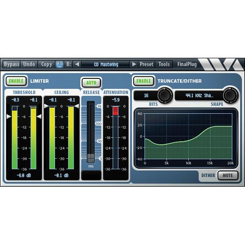 Wave Arts FinalPlug Mastering Peak Limiter and Volume 11-33086