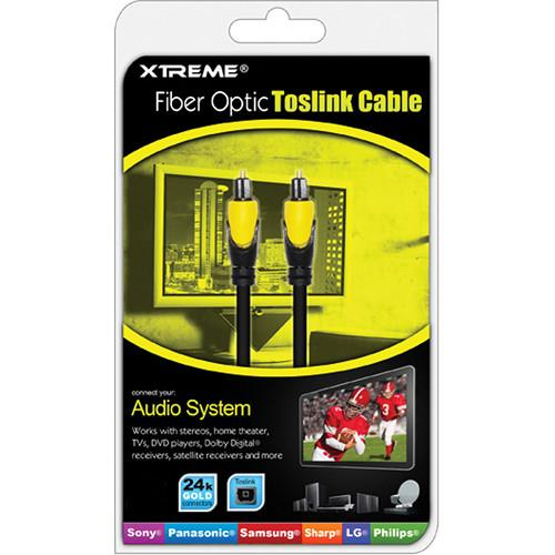 Xtreme Cables  3' Fiber Optic Toslink Cable 73503