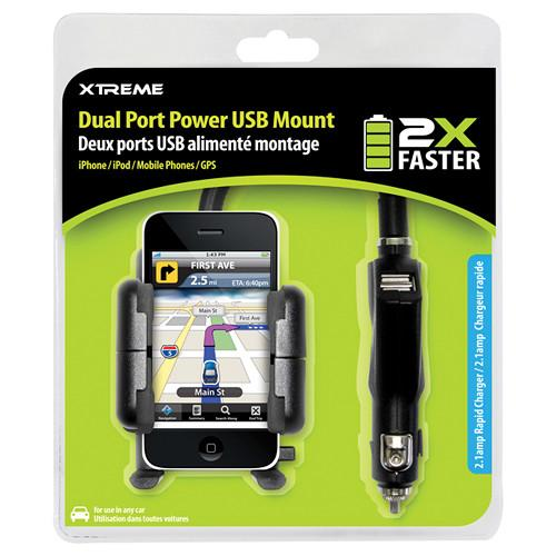Xtreme Cables  Dual Port Power USB Mount 59201