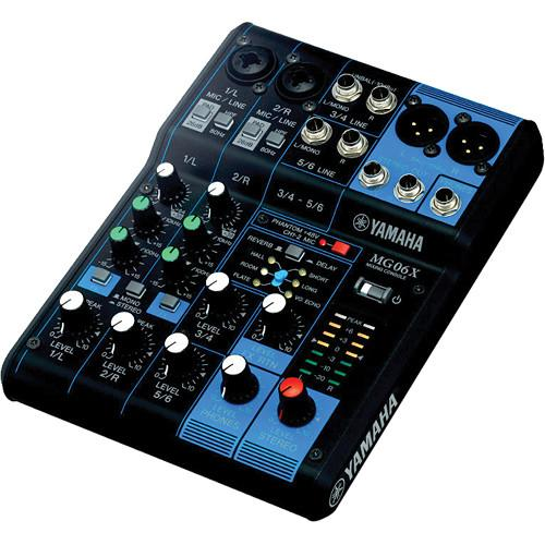 Yamaha MG06X - 6-Input Mixer with Built-In Effects MG06X