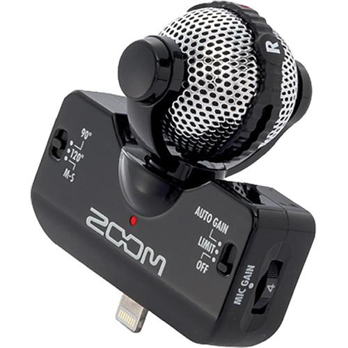 Zoom iQ5 Stereo Microphone for iOS Devices with Lightning ZIQ5B