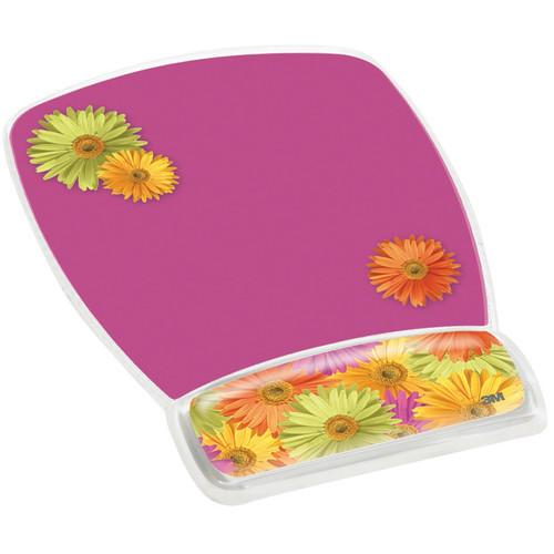 3M MW308DS Mouse Pad with Gel Wrist Rest (Daisy Design) MW308DS