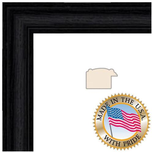 ART TO FRAMES 4083 Black Stain Solid Red WOM0066-59504-YBLK-8X8