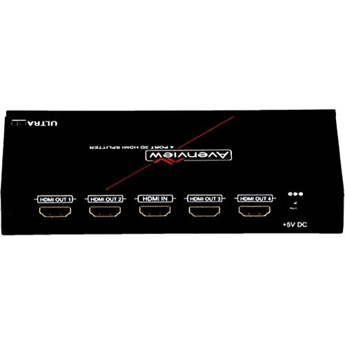 Avenview 1x4 HDMI 4K2K Splitter with 3D Ultra HD SPLIT-HD42K-4