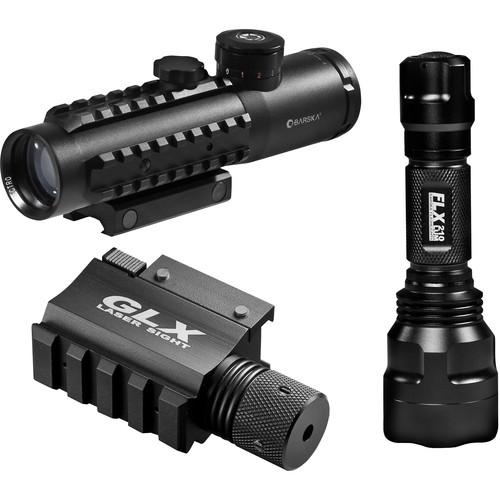 Barska 4x30 IR Sight with Green Laser and 210 Lumen DA12190