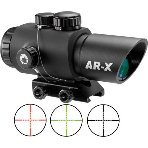 Barska  AR-X 3x30mm Red-Green Prism Scope AC12146