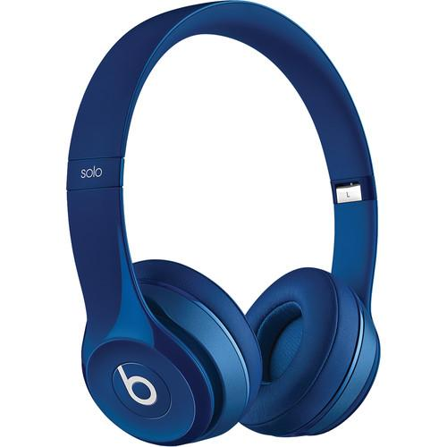 Beats by Dr. Dre Solo2 On-Ear Headphones (Blue) MHBJ2AM/A