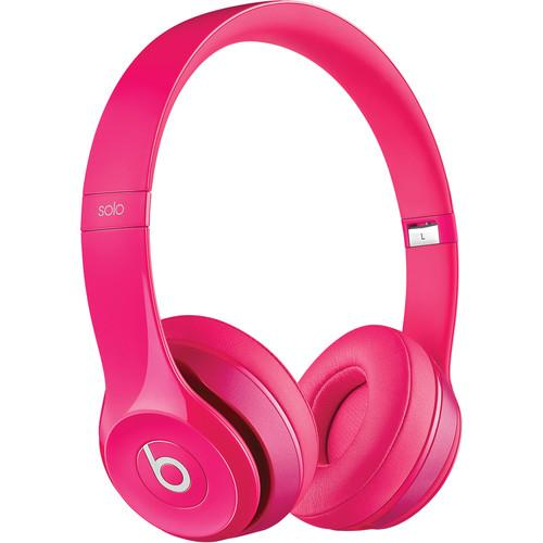 Beats by Dr. Dre Solo2 On-Ear Headphones (Pink) MHBH2AM/A
