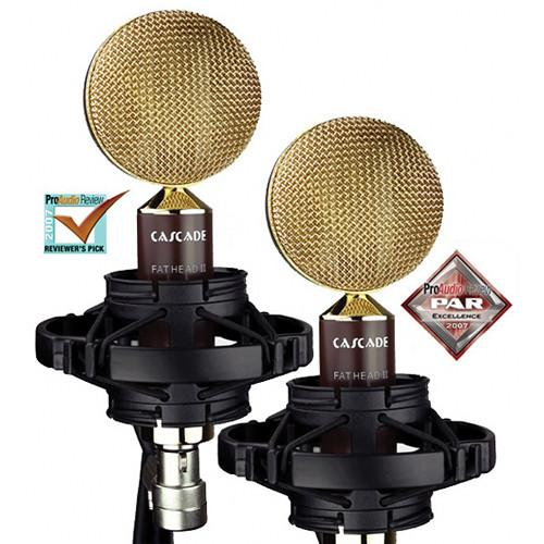 Cascade Microphones Fat Head II Ribbon Mic Matched Pair and