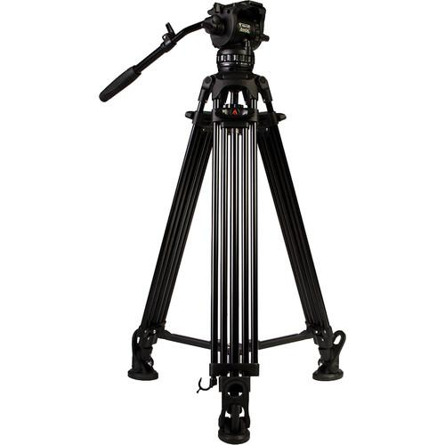 E-Image 2-Stage Aluminum Tripod/GH06 Fluid Video HD Kit EG06A2